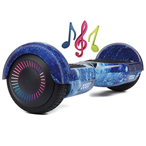Hoverboard, 6.5 inch Self Balancing Scooter Segway Hover Scooter Board mit Bluetooth Musik, LED Lichter und leistungsstarkem Motor für Kinder und Jugendliche