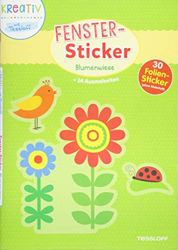 Fenster-Sticker Blumenwiese: Mit 30 Folien-Stickern!