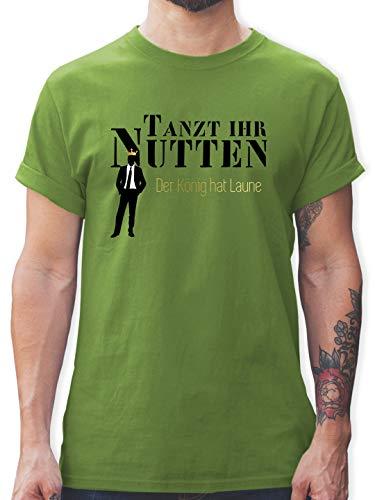 Typisch Männer - Tanzt Ihr Nutten - Der König hat Laune - XXL - Hellgrün - t Shirt nutte - L190 - Tshirt Herren und Männer T-Shirts