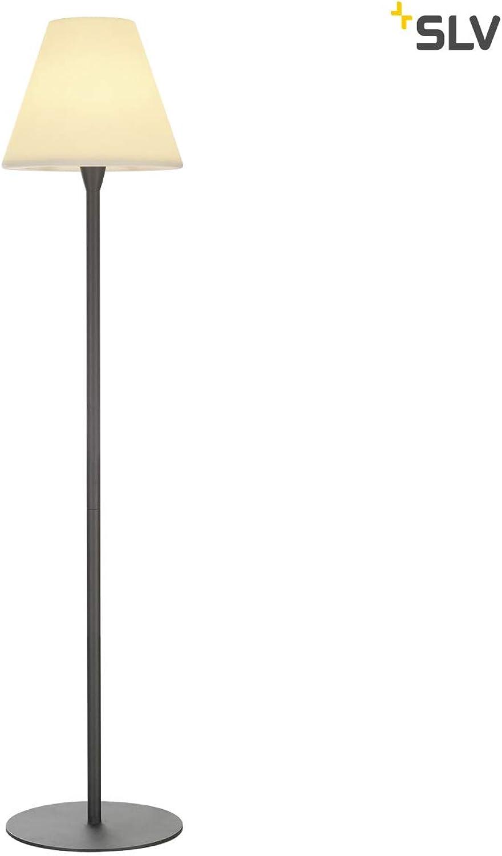 SLV LED Outdoor-Standleuchte ADEGAN Stehlampe Auen-Beleuchtung Balkon LED Stehleuchte, Wege-Leuchte, Kandelaber, Sockellampe, Garten-Beleuchtung, Gartenleuchte E27, max. 24W, EEK A-A++