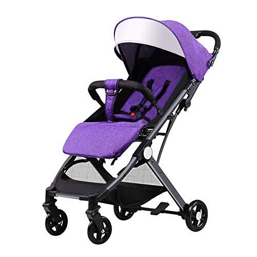 JIAO Carrito de bebé Cochecito de bebé El Cochecito Plegable se Puede sentar reclinable, Ultraligero y Plegable con una Sola Mano en la Caja de la Carretilla Carro (Color : E)
