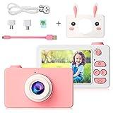 PELLOR Kinder Kamera, 2.0 Zoll Mini Digitalkamera Tragbare 24 Megapixel 1080P Actionkameras Camcorder mit 16G SD Karte, Kinder Geschenk