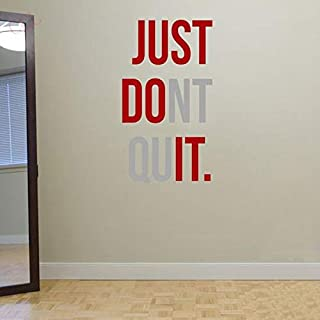 Spoil Your Wall Brand, Gym Wall Decals for Living Room, Home Decor, Waterproof Wall Stickers