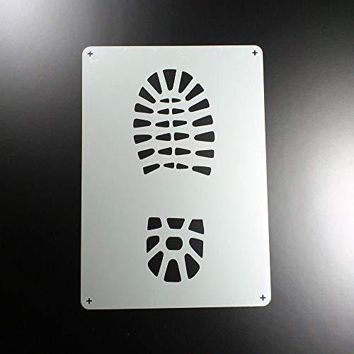 Schablone Schuh Profil Bergschuh Abdruck - BA23