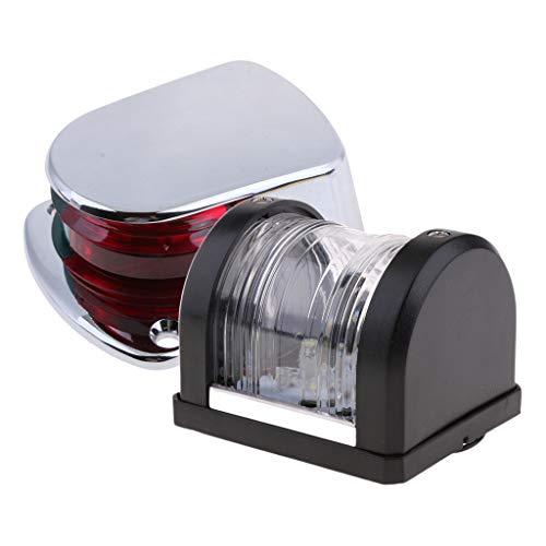 Homyl Feu de Navigation à LED 12V Bicolore pour Bateau