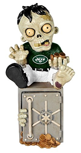 New York Jets Resin Zombie Bank