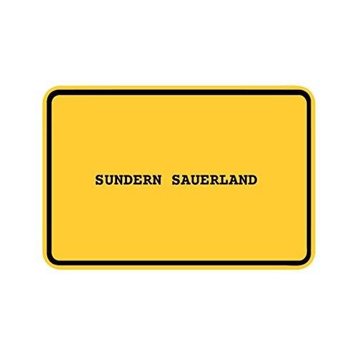 JOllify Aufkleber - SUNDERN SAUERLAND – Farbe: Design: Ortsschild