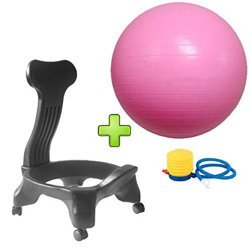 YPSMCYL Office Fitness Balance Ball Chair - Sport Postura Yoga Ball Chair Quando Ti Siedi Hai Iniziato A Esercitare - per La Folla Ufficio O Fitness Pigro,Pink