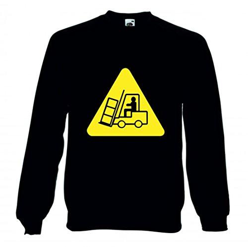 Druckerlebnis24 Sweatshirt ARBEITSSICHERHEIT- Signal- SIGNALE- VERKEHRSSIGNAL- Gefahr- Arbeiter- Sicherheit- LEBKUCHENMANN- Transit- Gabelstapler für Herren- Damen- Kinder