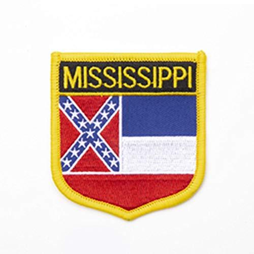 New York Shield Shape Vlag patches geborduurde vlag patches nationale vlag patches voor Cothing DIY Decoratie