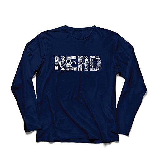 lepni.me Camiseta de Manga Larga para Hombre Nerd - Programador o Jugador Idea de Regalo Divertido (XX-Large Azul Multicolor)