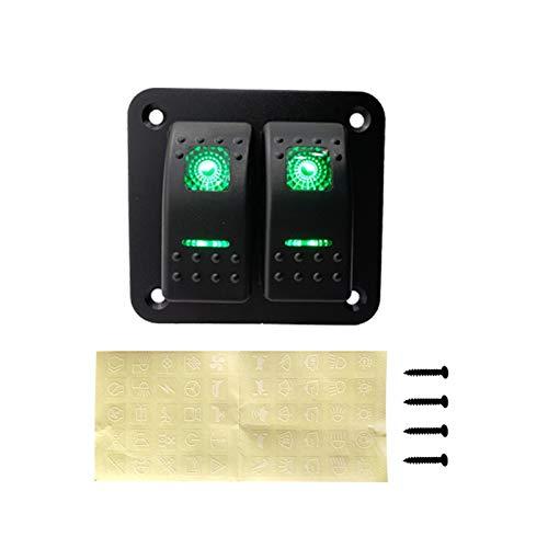 ZHANGJIN 2 Interruptor de la cuadrilla Rocker panel 12-24V interruptor de circuito a prueba de agua panel de interruptores en forma for el remolque del barco del coche Marina Camper caravanas de viaje
