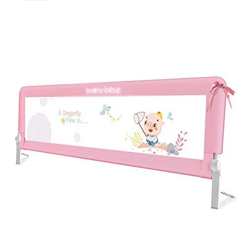 Bed Rails ZR Szyna do łóżkaszyna łóżka zabezpieczająca przed dziećmi barierka płot spadająca duża poręcz łóżka 150 cm180 cm200 cm -Bezpieczeństwo (kolor: Różowy-150 cm)