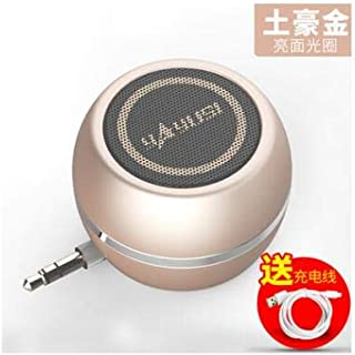 TECHCHTE A5 Bluetooth Version Mobile Phone Audio Mini Speaker subwoofer - Bluetooth Wireless Mini Speaker,Gold