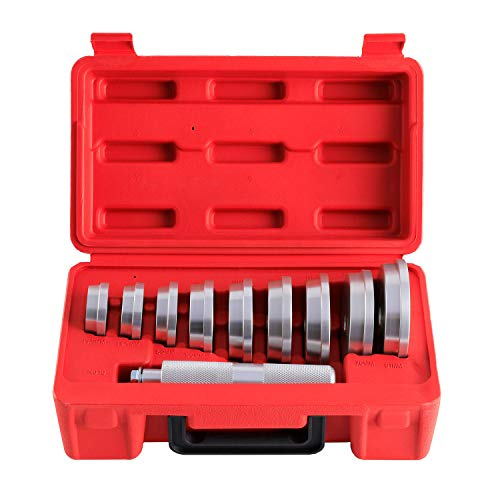 Orion Motor Tech 10pcs Bearing Race and Seal Bushing Driver Install Set 9 Discs Collar Axle Housing with Carrying Case Master Universal Aluminum Bush Drive Seal Kit for Automotive Wheel Bearings