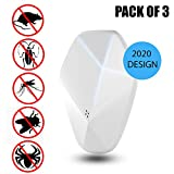 ROBUST STRENGTH Ultrasonic Pest Repeller 3 Pack, Plug In Indoor Repellent with Night