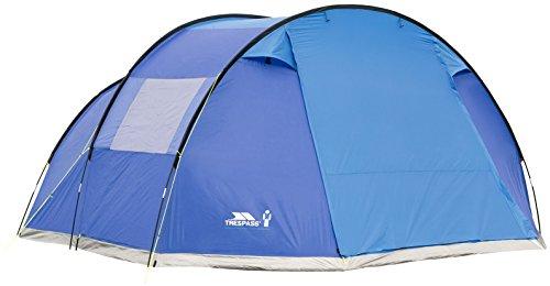 Trespass 6 personen tent 4, 85 m x 3, 8 m x 2 m/11, 2 kg/waterdicht Torrisdale, Blue, EACH, UUACTTM30002_BLUEACH