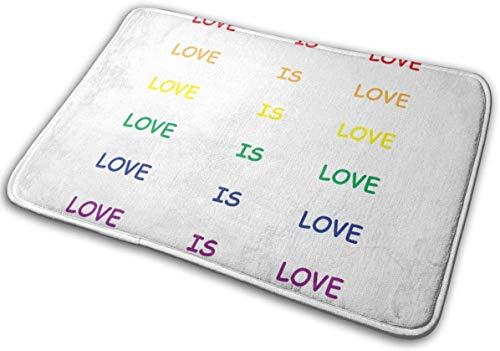 Alfombrilla de baño con mensaje 'Liebe ist Liebe Memory', antideslizante, suave, absorbente, de goma, para suelos de cocina, 40 x 60 cm