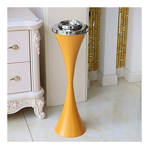 Tipo de Piso de cigarros, ABS + Cemento + Materiales 16.5 cm * 58 cm 6.4in * 22.8 en Decoración Elevador KTV Aseo Aseo Sala de Estar Titular de Ceniza Interior (Color: Rojo) YXF99 (Color : Yellow)