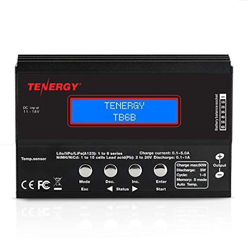 Tenergy TB6-B Balance Charger Discharger 1S-6S Digital Battery Pack Charger