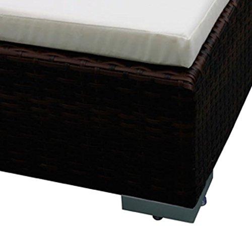 Nishore 12-TLG. Garten Lounge Set mit Auflagen Rattan-Lounge Esstisch Gartenmöbel-Set Sofa Garnitur Couch-Eck Outdoor Polsterstärke: 6 cm - 6