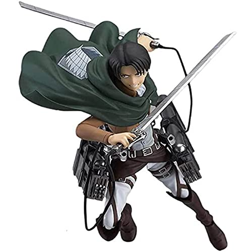 Levi Ackerman Figure, Attack on Titan Figure Mikasa Ackerman Figure Eren Figure Cool Figurine Toys PVC Action Figure Statue (Levi Ackerman)