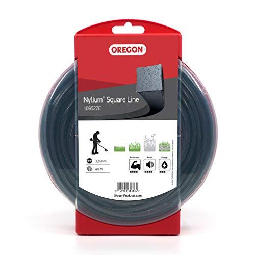 Oregon 109522E Hilo de nylon perfil cuadrado, 40 m