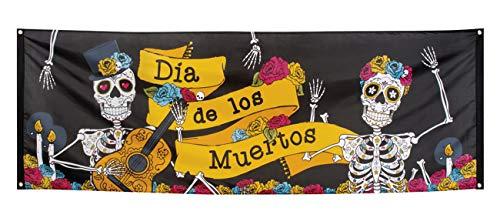 Boland 97021 Banner Día de los muertos, Mehrfarbig