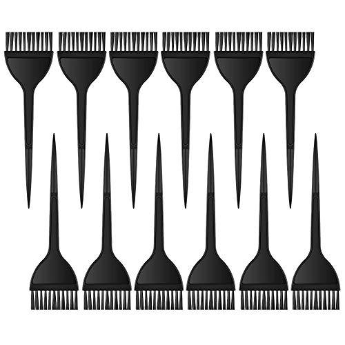 Färbepinsel, 12 Stück Haarfärbepinsel Set Haar Färbemittel/Haarfärbemittel Farbbürsten/Haarfärbung Pinsel Werkzeug Kit, Färbebürste Färbeset Färbezubehör für DIY Haarfärbe Salon Haar Friseur Färben
