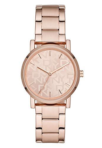 DKNY Damen-Uhren Quarz One Size Rosé Edelstahl 32012027