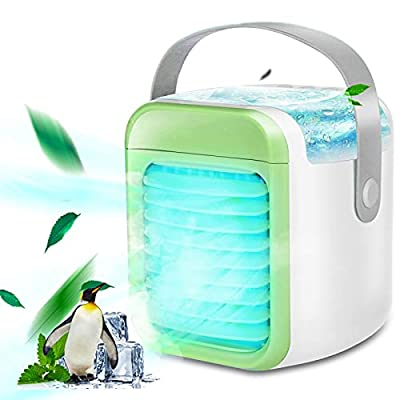 Amazon - Save 80%: Portable Air Conditioner, Rechargeable Evaporative Air Conditioner Fan with 3 Spe…