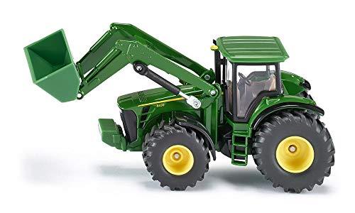 SIKU 1982, John Deere Traktor mit Frontlader, 1:50, Metall/Kunststoff, Grün, Viele Funktionen