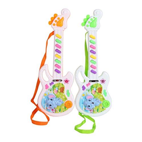 TOYMYTOY Juguete de guitarra Instrumentos musicales para niños bebé Regalo de Día de los niños (Color aleatorio)