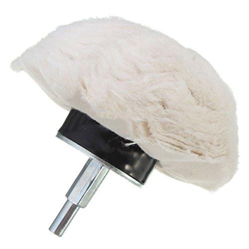Lopbinte 1PC 4 Inch 100% Cotton Dome Polishing Mop Buffing Wheel Polish Pad Drills White