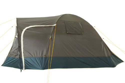 CampFeuer - Igloo/Dome-Tent with Porch, 3-4 Persons, khaki / dark green