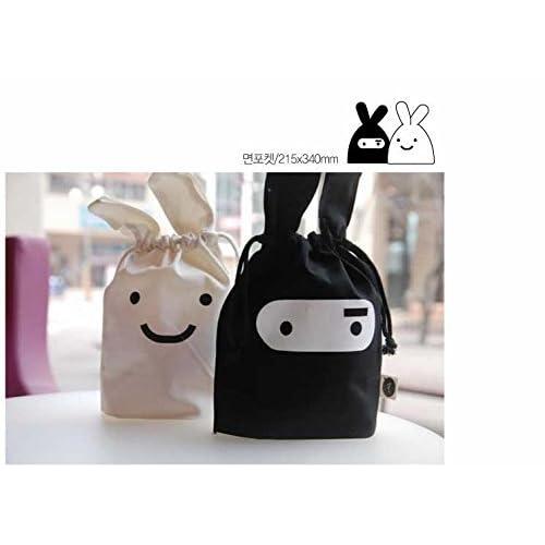 Korean Adorable Travel Ninja Rabbit Pouch Tote Bag ...