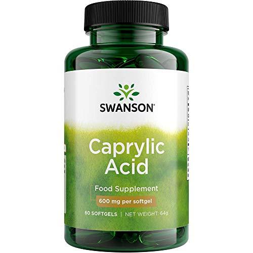 SWANSON Caprylic Acid 600 mg - 60 softgels