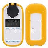 Jeanoko Refractómetro Brix 0-28% Medidor de salinidad automático para Exteriores para acuarios(DR201 Salinity Meter 0-28%)