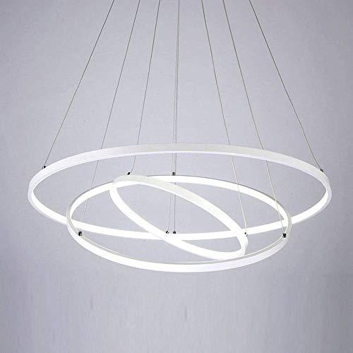 DJ0001 Moderne minimalistische mode plafondlamp hanger \ 3 ring acryl lampenkap hanger \ metalen haken \ voor keuken of slaapkamer \ woonkamer restaurant kantoor LED 72W, wit, A