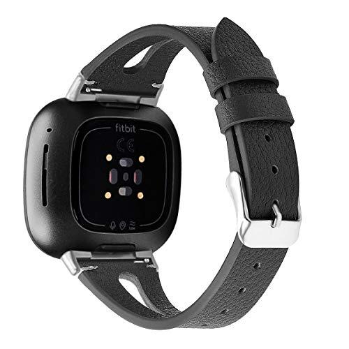 Gransho Correa de Reloj Compatible con Fitbit Versa 3 / Fitbit Sense, Cross Piel Correa/Banda/Pulsera/Reemplazo (Pattern 9)