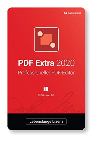PDF Extra 2020 – Adobe® PDF Professional Compatible PDF Editor –– Bearbeiten, Schützen, Kommentieren, Ausfüllen und Unterzeichnen von PDFs - 1 PC/ 1 Benutzer / Lebenszeit-Lizenz