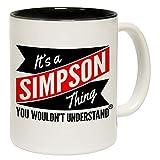 N\A Tazze novità È Una Cosa dei Simpson Che Non capiresti Tazza con Scritta in Ceramica con Tazza da caffè Interna Nera