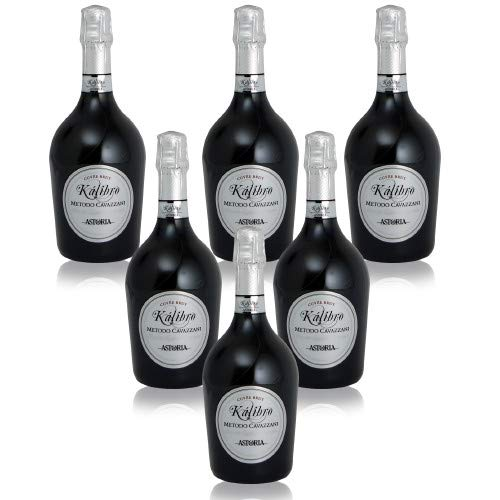 Kalibro Spumante Brut Metodo Cavazzani Astoria Italienischer Sekt (6 flaschen 75 cl.)