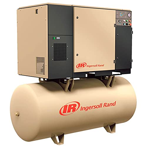 - Ingersoll Rand Rotary Screw Compressor - 230 Volts, Single Phase, 5 HP, 18.5 CFM, Model# UP6-5-125