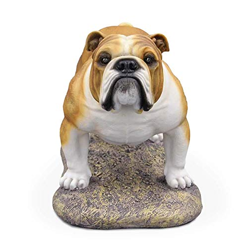 Bulldog Inglés Modelo, Escultura de Resina Jardín Perro Estatua Animal Ornamento del Arte, Oficina Cubierta turística Crafts Decoración