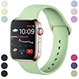 Hamile Armband Kompatibel fr Apple Watch 38mm 40mm, Weiche Silikon Wasserdicht Ersatz Uhrenarmbnder...