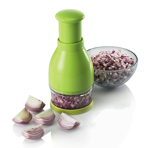 ZEAL Professional Food Chopper and Dicer - No Tears - Finely chop onions, vegetables, fresh herbs, garlic, chocolate, nuts - Green