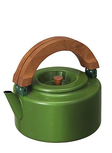 シービージャパン やかん ブリティッシュグリーン IH対応 1.6L ノルディカ フラット ケトル 茶こし付き ホーロー ALAW