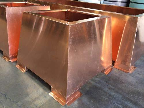 Buy Storm Copper Chimney Shroud, 34 x 34 x 20-20 oz. Copper - Open Top