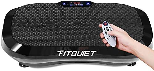 FITQUIET Vibration Plate Exercise Machine with Loop Resistance Bands Whole Body Workout Vibration product image